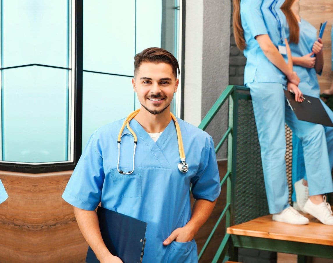portrait of a male nurse